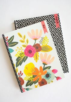 decorated notebooks with cute washi tape labels!
