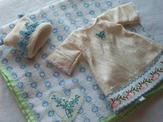 """Jenny's Dresser Drawer blog: Preview """"In Memory of The Smallest of Us""""  Infant burial gown, hat and blanket 1/2lb size. Silk, vintage trim, stockinette, hand crochet lace and vintage flannel.  #babyloss #stillbirth #miscarriage #infantdeath #burialgown #preemiegown"""