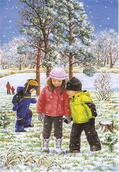 View album on Yandex. Illustrations, Illustration Art, Four Seasons Art, Winter Christmas Scenes, Snowflakes Art, Snow Pictures, Creation Photo, Hello Winter, Winter Images