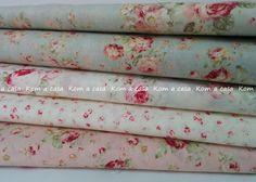 Beige Rosa Grasa quarter//meter ♥ ALGODÓN TELA FQ ♥ Vintage flor cesta rosa Sew