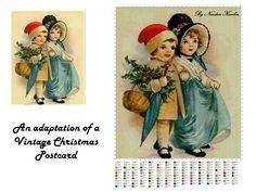 My adaptation of a Vintage Christmas Postcard