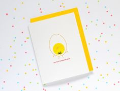 Handsome Devil Egg   queenie's cards