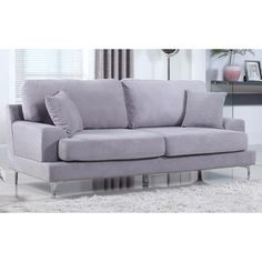 Shop for Ultra Modern Plush Velvet Living Room Sofa. Get free shipping at Overstock.com - Your Online Furniture Outlet Store! Get 5% in rewards with Club O!