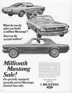 1965 Ford Mustang - Special 1 Millionth Mustang Sale Ad - USA | by Five Starr Photos ( Aussiefordadverts)