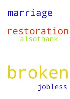 Please I need prayers on my broken marriage restoration -  Please I need prayers on my broken marriage restoration and am jobless also.thank you  Posted at: https://prayerrequest.com/t/5NJ #pray #prayer #request #prayerrequest