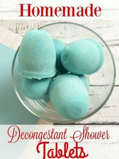 Homemade Decongestant Shower Tablets - Skip the store bought vapor tablets! This homemade natural remedy works much better, is cheaper and are so easy to make! You'll wonder you waited so long to make the switch!