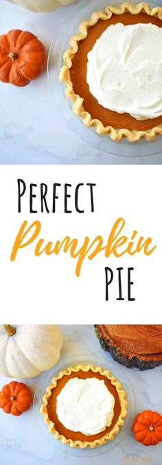 Perfect Pumpkin Pie. Creamy, silky filling in an all butter flaky pie crust. Delicious fall dessert and Thanksgiving favorite.