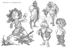 Character Design - Humans - DATTARAJ KAMAT Animation art
