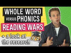 Reading Wars   Phonics vs. Whole Word - YouTube Teaching Sight Words, Phonics Reading, Instructional Coaching, K 1, Literacy, Education, School, Youtube, Teaching