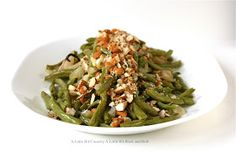 A Little Bit Crunchy A Little Bit Rock and Roll: Roasted Green Beans with Shallots and Garlic