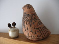 Dane Burr Vintage Studio Pottery Terracotta by SomethingofInterest, $59.00