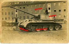 HAMMER Panther Tank Panzer Foto in Sammeln & Seltenes, Militaria, 1918-1945 | eBay