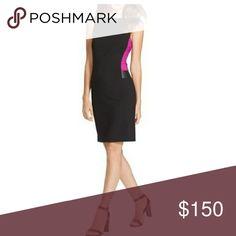 Coming 3/9 Ralph Lauren Colorblock Dress Black with purple 64% polyester, 33% rayon, 3% elastane New without tags Lauren Ralph Lauren Dresses