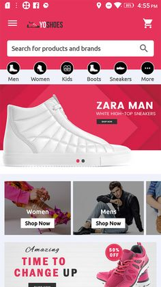 Buy CiyaShop Native Android Application based on WooCommerce by Potenzaglobalsolutions on CodeCanyon. CiyaShop Native Android Application CiyaShop native Android application is the perfect solution for your shopping bu. White High Top Sneakers, White High Tops, Inventory Management, 3d Painting, App Ui Design, Zara Man, Kids Boots, Nativity, Shop Now