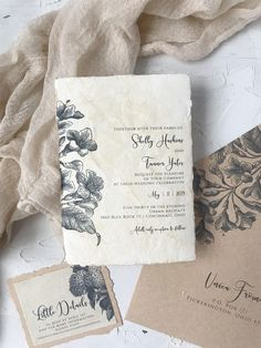 Stained Wedding Invitations for a Vintage Wedding Wedding Invitation Etiquette, Vintage Wedding Invitations, Wedding Vintage, Boho Wedding, Wedding Decor, Wedding Stationery Inspiration, Wedding Inspiration, Save The Date, Old World Wedding