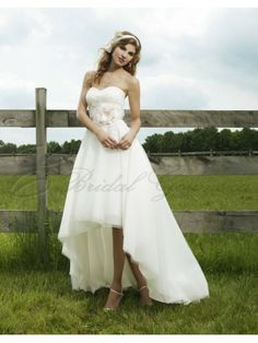 for High low wedding dresses with cowboy boots