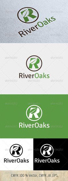 River Oaks - Logo Design Template Vector #logotype Download it here: http://graphicriver.net/item/river-oaks/4554918?s_rank=533?ref=nesto