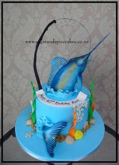 Blue Marlin Cake  - Cake by Mel_SugarandSpiceCakes