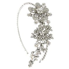 Stunning is the only way to describe the Butler & Wilson Crystal Trailing Flower and Leaf Head Band. Featuring Swarovski crystal, it is perfect for making a bold and beautiful statement. Bridal Veils, Bridal Hair, Trailing Flowers, Wedding Mexico, Butler & Wilson, Headpieces, Fascinator, Costume Jewelry, Headbands