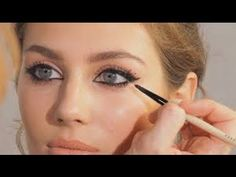 STEPS: Look at yourself straight on in the mirror. Where your eyebrows end should be the direction your liner goes. So if you kept drawing, your liner and ey...
