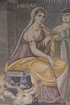 Zeugma Museo dei mosaici. Mosaico del II secolo. Gaziantep, Turchia