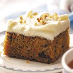Classic Carrot Cake Recipe from Taste of Home Love Carrot Cake but alas my family does not so I rarely get to eat any