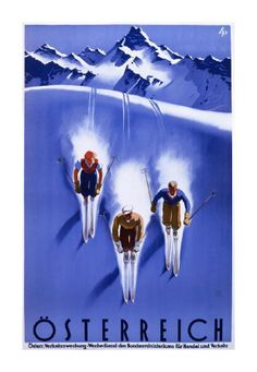 Dream of a day on the slopes every time you gaze at the Global Gallery Osterreich Canvas Wall Art . This vintage-inspired illustration will have you. Ski Vintage, Vintage Ski Posters, Cool Posters, Vintage Postcards, Vintage Art, Art Posters, Poster S, Poster Prints, Art Prints