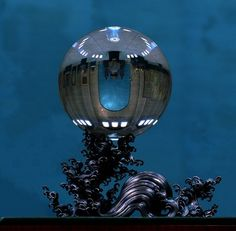 Crystal Ball on Silver Stand at the University of Pennsylvania Museum of Archaeology and Anthropology Credit: Courtesy Penn Museum