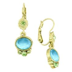 1928 Peridot & Olivine Green Lever Back Earrings-Love the style and especially the colors. So pretty! Wish list!