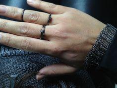 black stacking rings