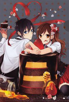 cake !!! . Hori and Miyamura - Horimiya 59