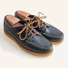 Crepe sole deck shoes by Oak Street Bootmakers