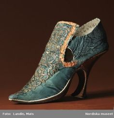 The heel was introduced by Louis XIV as was the big wig.