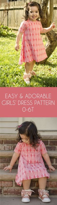 Ideas for sewing patterns girls dresses costura Toddler Dress Patterns, Girl Dress Patterns, Sewing Patterns For Kids, Toddler Girl Dresses, Little Girl Dresses, Girls Dresses, Knitting Patterns, Purse Patterns, Dress Girl