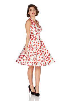 Voodoo Vixen Cherry Halter Neck Dress
