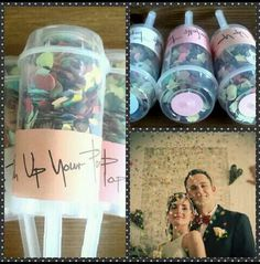 Push your WeddingPhotos with KonfettiPoppers !  Dawanda.com/shop/wuptishop