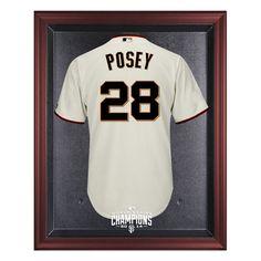 San Francisco Giants Fanatics Authentic 2014 World Series Champions Mahogany Framed Logo Jersey Display Case - $199.99