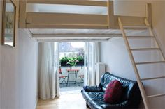 A loft bed with a ladder that is easy to climb!?