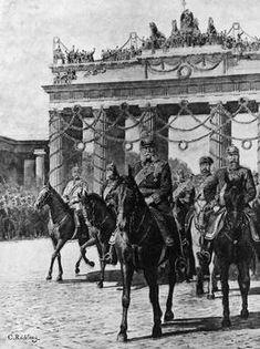 """""""Kaiser Wilhelms Einzug in Berlin am 16. Juni 1871""""."""