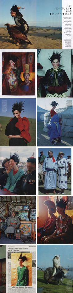 Adventures In Mongolia By Tim Walker For British Vogue