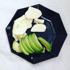 Mozzarella and avocado