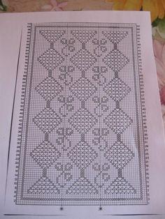 Crochet Curtains, Crochet Tablecloth, Filet Crochet Charts, Crochet Instructions, Bargello, Chrochet, Doilies, Crochet Projects, Diy And Crafts