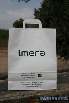bolsas de papel con asa plana interior www.bolsapubli.net