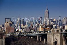 New York City Canvas Wall Art Manhattan Empire Statue Building Skyline NYC