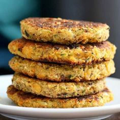 Chickpea Zucchini Carrot Fritters / pancakes with turkish spices. #Vegan #Glutenfree Breakfast.