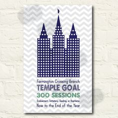 LDS Temple Goal DIY Printable File by LittleMissMissy on Etsy, $20.00