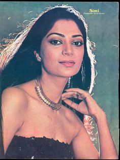Simi Bollywood Cinema, Indian Bollywood Actress, Bollywood Stars, Indian Actresses, Actors & Actresses, Simi Garewal, Western Photography, Film Archive, Vintage Bollywood