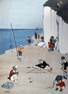 Heath Robinson 'Intellectual Summer Holiday' 1925