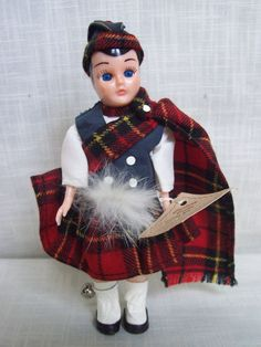 Vintage Carlson Scottish Boy Doll 8-71 #DollswithClothingAccessories