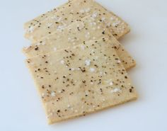 "Salt and Pepper Crackers. ""Repinned by Keva xo""."